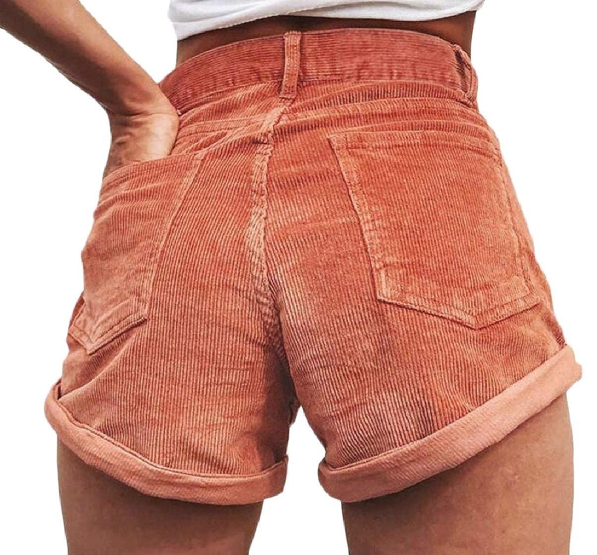 Xswsy XG Womens Summer Corduroy Stretch Wide Leg Shorts