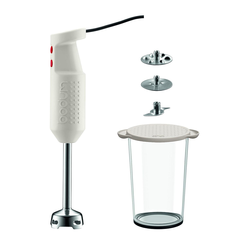 Bodum Bistro Elektrischer Mixer mit Zubehör (2 Scheiben, 1 Messer, 1 ...