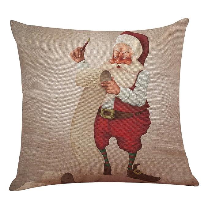 Kissenhülle Kreuzworträtsel.Weihnachten Weihnachtsgrossvater Kissenbezug Sofa Home Decor