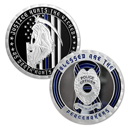 Amazon com: Thin Blue Line Police Officer Collectible Gift US Law