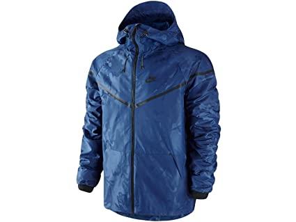 70c9a7632ba3 Image Unavailable. Image not available for. Color  Nike Tech Windrunner  Woven Jacket Deep Royal Blue ...