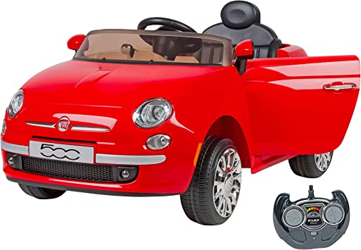 W'TOY Fiat 500 Auto elettrica, Colore Rosso, C.T. 02909