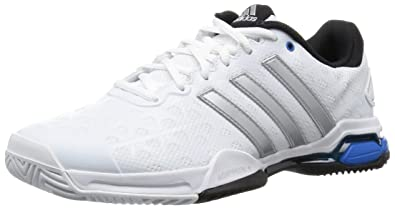 pretty nice f3ffb 6db0f adidas Barricade Club, Chaussures de Tennis homme, Blanc (Ftwr WhiteMatte  Silver