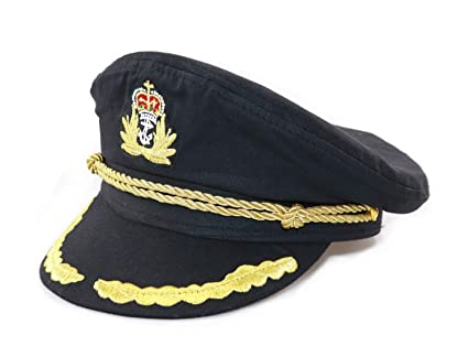 d1a8b6f130083 Image Unavailable. Image not available for. Color  Ibeauti Unisex Adjustable  Captain Costume Admiral Hat Cosplay Black Sailor Cap ...