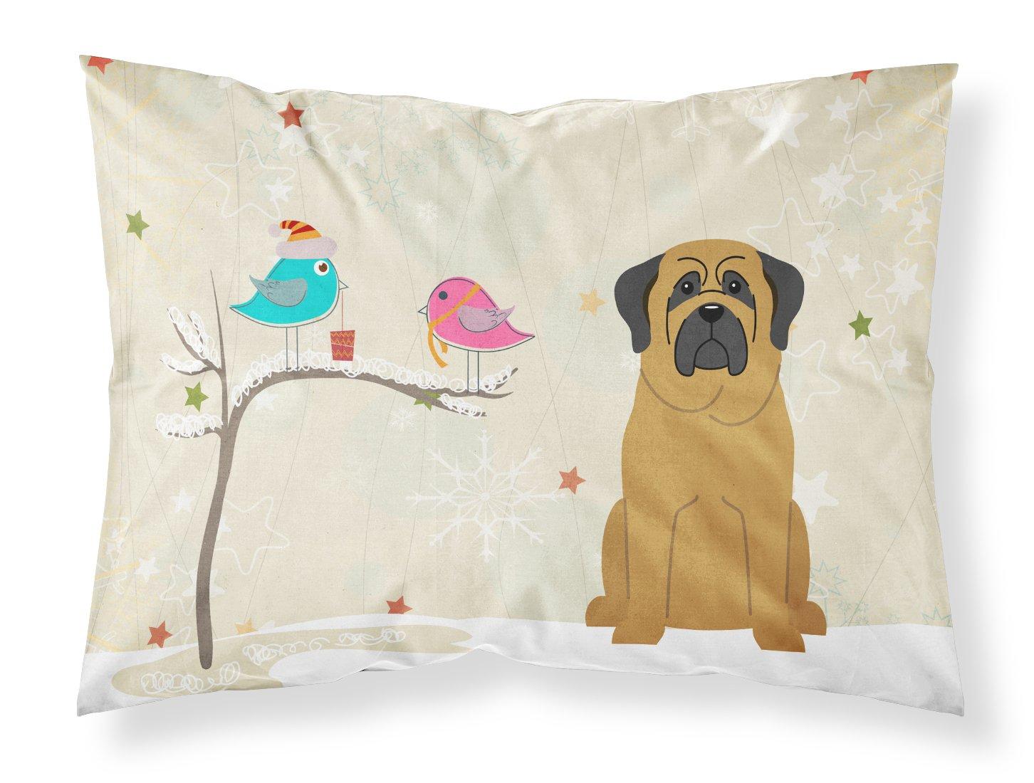Carolines Treasures Between Friends Mastiff Fabric Standard Pillowcase BB2490PILLOWCASE Multicolor