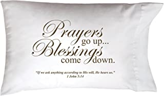 """product image for Imagine Design Sleep On It Prayers Go Up Pillow Cover, 20"""" x 30"""""""