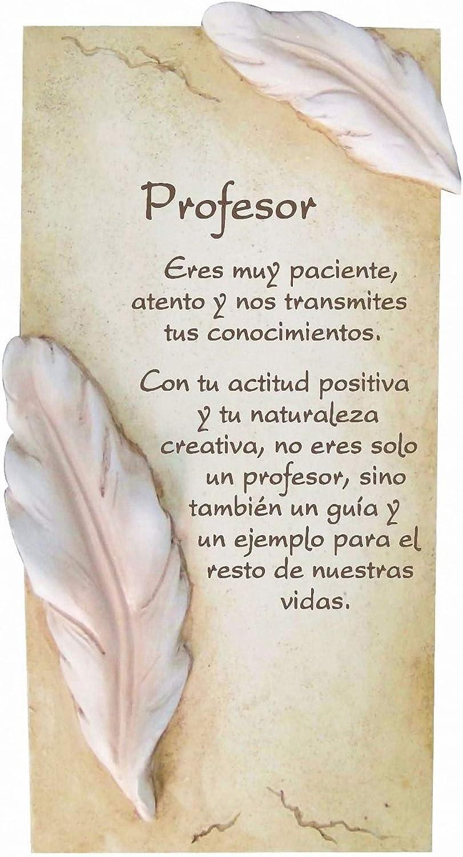 Framan PERGAMINO DE Piedra LABRADA con Textos para Ocasiones Especiales, Ideal para Regalo Original Y ECONÓMICO. Especial Profesor