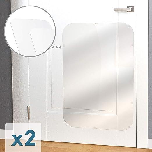 Protector de arañazos de perro para puerta de PETFECT. Juego de 2 protectores de arañazos para puerta para uso interior y exterior, transparente (35,5 x 24): Amazon.es: Productos para mascotas