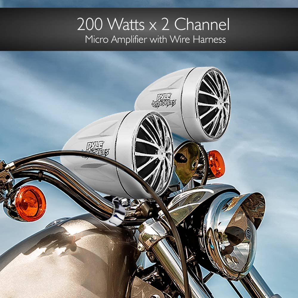 Amazon.com: Pyle 400 Watt Weatherproof Motorcycle Speaker and ...
