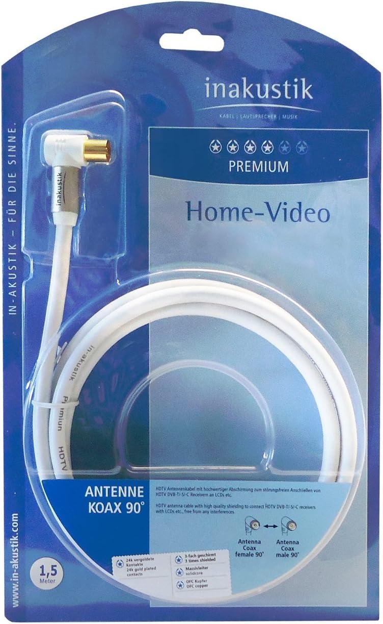 in-akustik Premium HDTV 90° Antennenkabel Koax 100dB 7,5 m