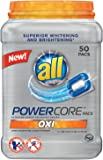 all Powercore Pacs Laundry Detergent with OXI, Tub, 50 Count
