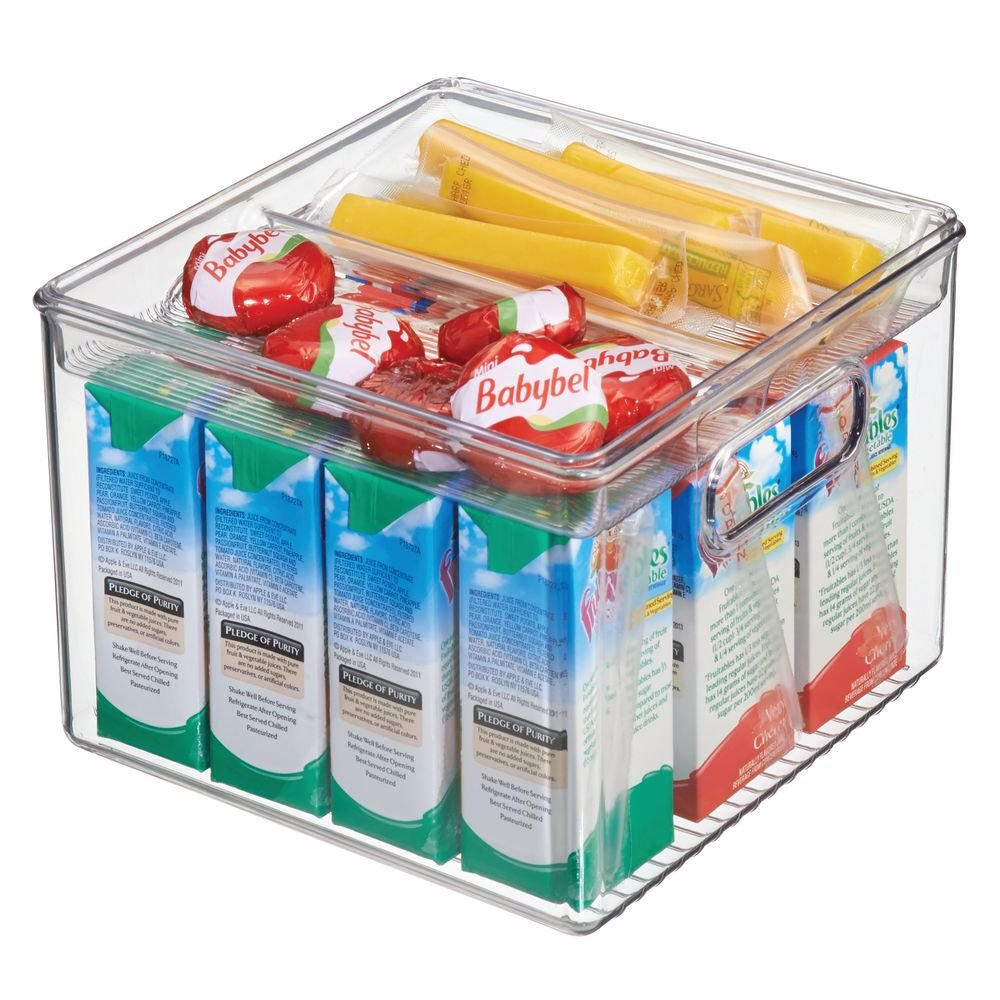 e05199ebee6 mDesign Multi-Purpose Storage Box - Perfect as a Refrigerator Box, Kitchen  Storage or a Freezer Container - Made of Robust, Transparent Plastic -  BPA-Free: ...