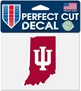 """WinCraft Indiana Hoosiers NCAA 4""""x5"""" Perfect Cut State Decal"""