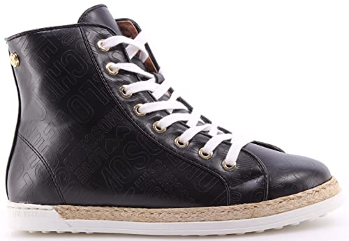 22a8e88d Love Moschino Zapatos Mujer Sneakers High Top Roma Nappa PU Black Negro  Nueve uUDXPMwB8