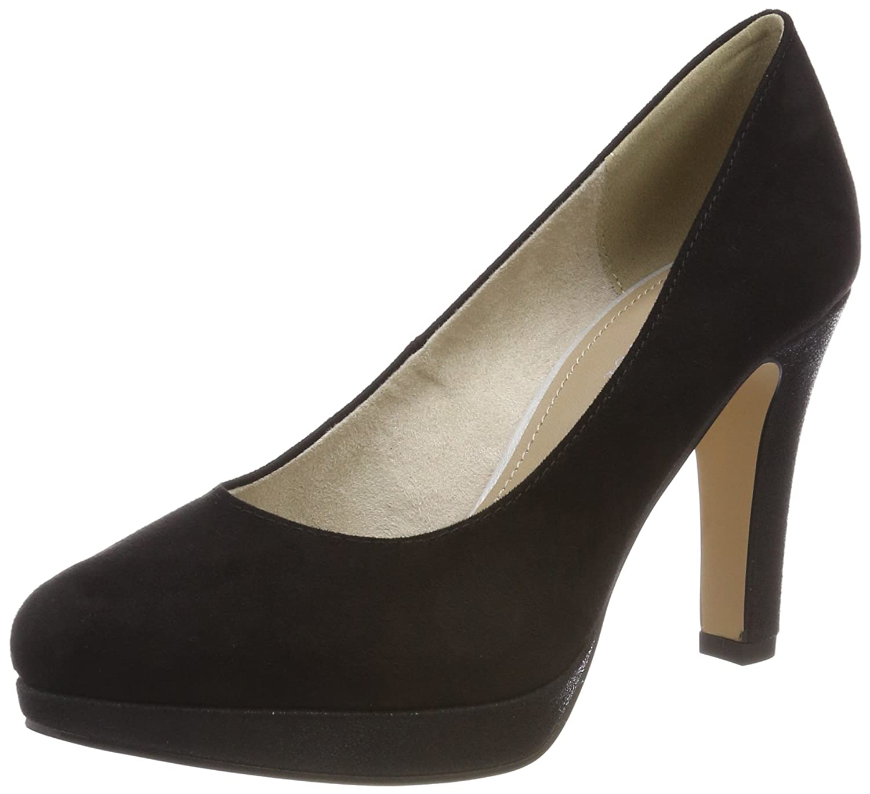 s.Oliver 22400, Zapatos de Tacón para Mujer 38 EU|Negro (Black Comb)