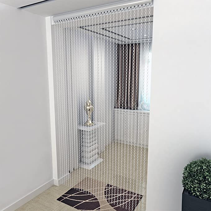 90 cm de ancho cortina de cadena metálica de aluminio Link mosca Pest Bug puerta persianas cortina: Amazon.es: Hogar