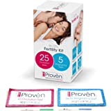 Best Ovulation Predictor Kit - iProvèn OPK FK-127 - Fertility Test - for Trying to Conceive Couples - 25 Ovulation and 5 Pregnancy Test Strips - Ovulation Kits for Women