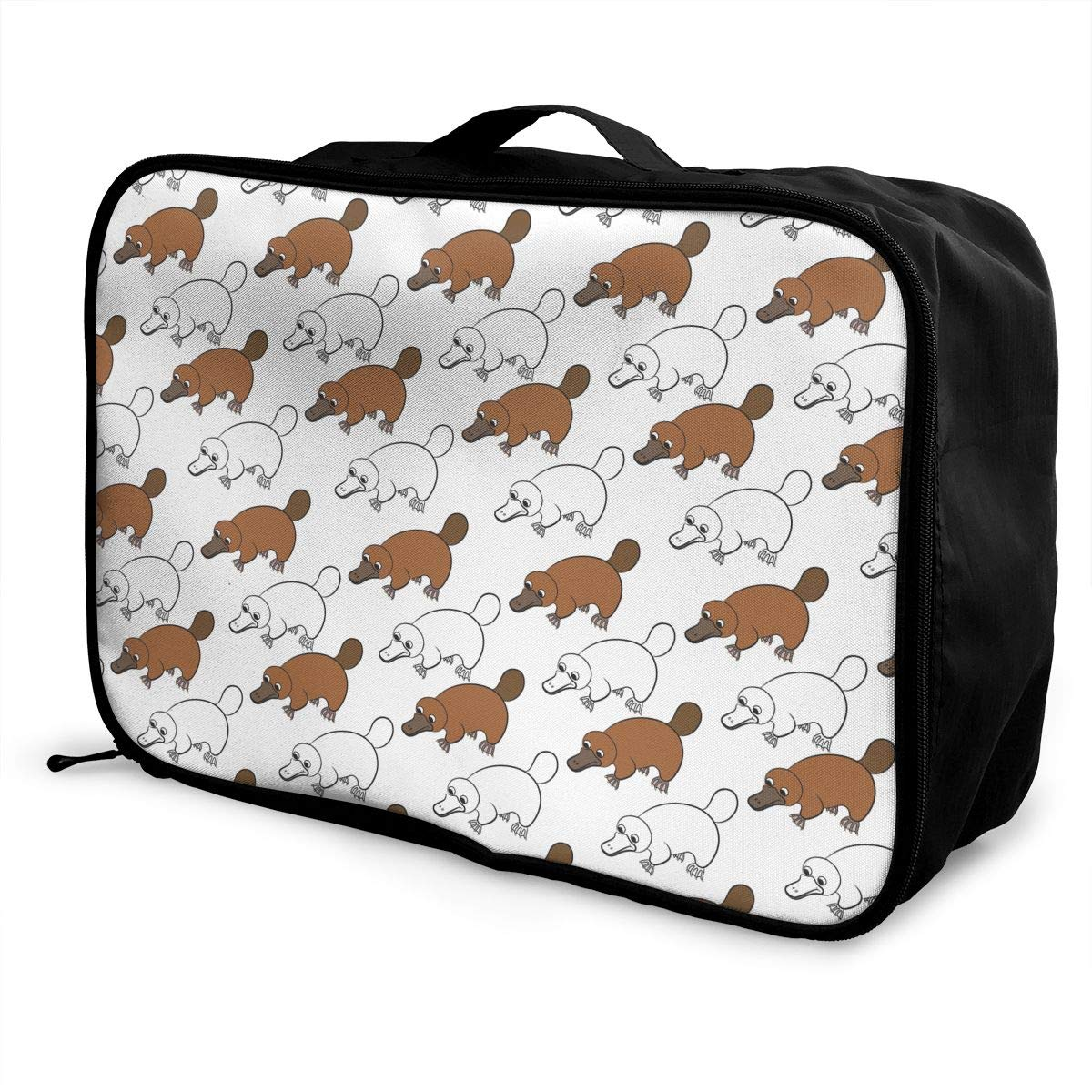Platypus Duckbill Pattern Travel Fashion Lightweight Large Capacity Duffel Portable Waterproof Foldable Storage Carry Luggage Tote Bag