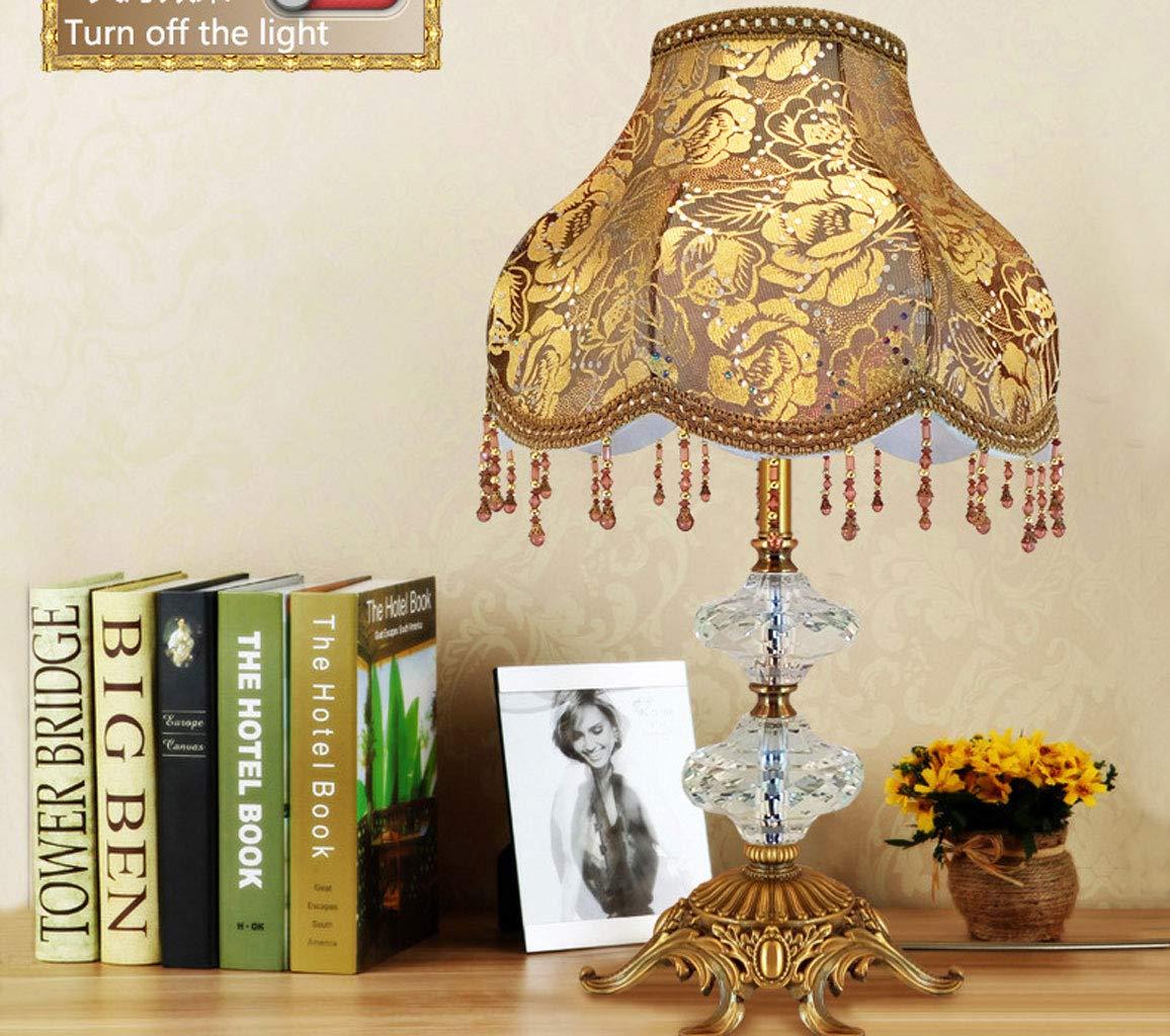 Amazon.com: Yat Brass Desk Lamp Crystal Antique Table Lamp ...