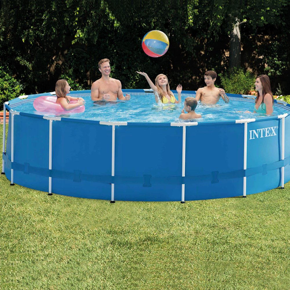 Intex 28236 - Piscina desmontable, montura metal, 457X122cm - 16.805 L: Amazon.es: Jardín