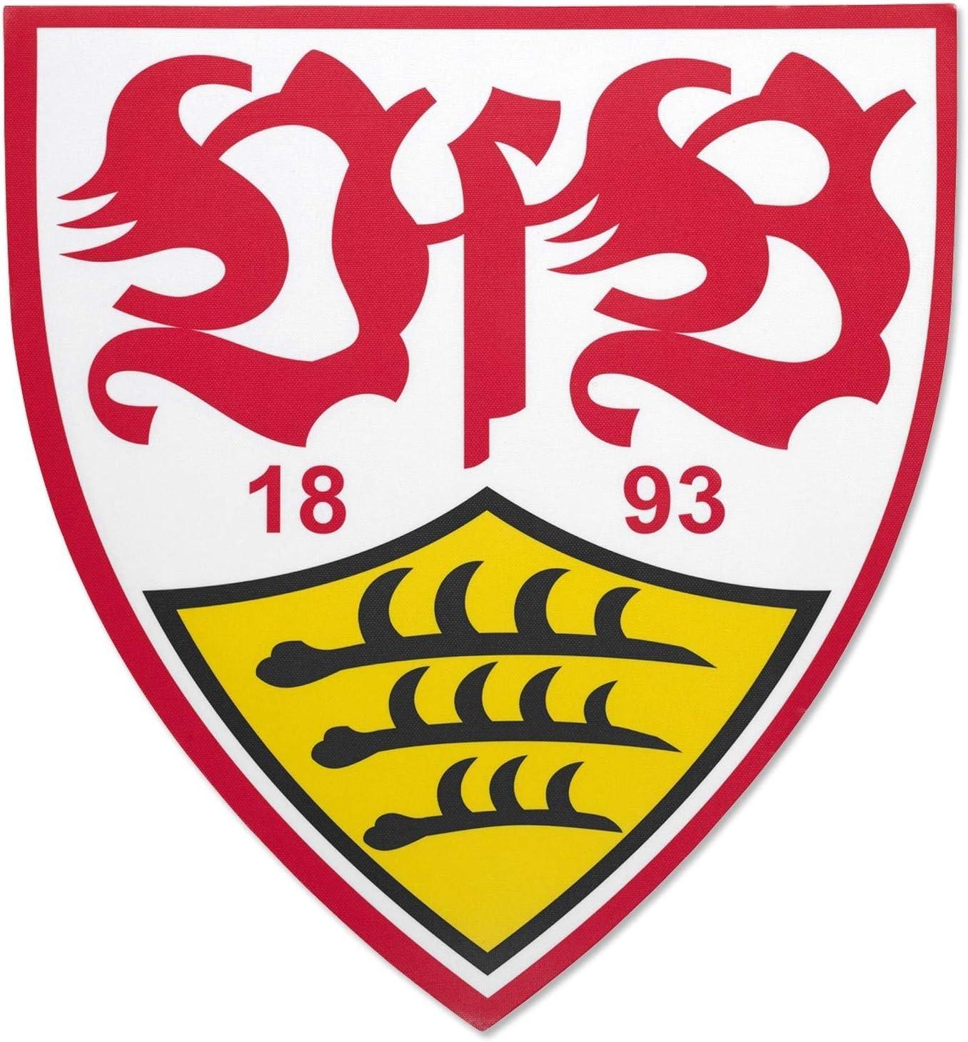 Plus Lesezeichen Wir lieben Fu/ßball Kaffeetasse Mug Relief Schriftzug VfB Stuttgart Tasse