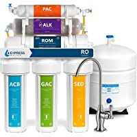 Express Water ROALK5D 10-Stage Alkaline Reverse Osmosis Home Drinking Water Filtration System with 5 Stage Alkaline…
