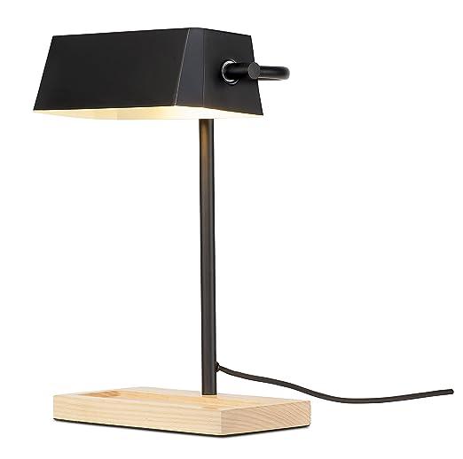 Its About Romi.It S About Romi Lampe De Bureau Metal Noir Bois Naturel It S About
