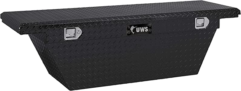 """UWS TBSD-63A-LP-BLK Black 63"""" Single Lid Deep Angled Low Profile Crossover Tool Box with Beveled Insulated Lid"""
