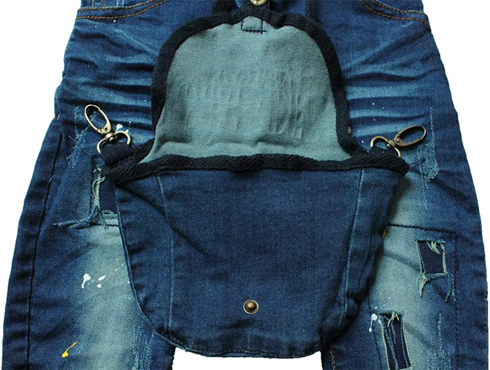 E-Tree eTree Little Boys Baby Denim Jeans Special Pockets Paint Pants 1-5 Years