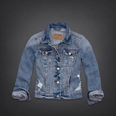 hollister blue jean jacket