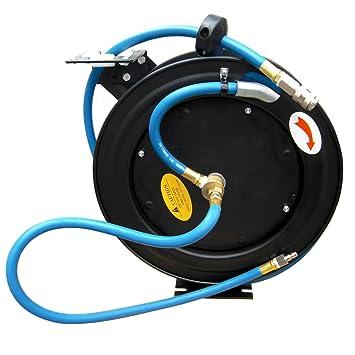 Druckluftschlauch Druckluft Schlauchtrommel 10 Meter mit Aufroller