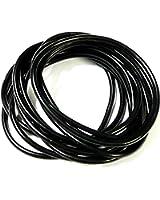 Set of 10 Black Gummy / Jelly Bands / bracelets