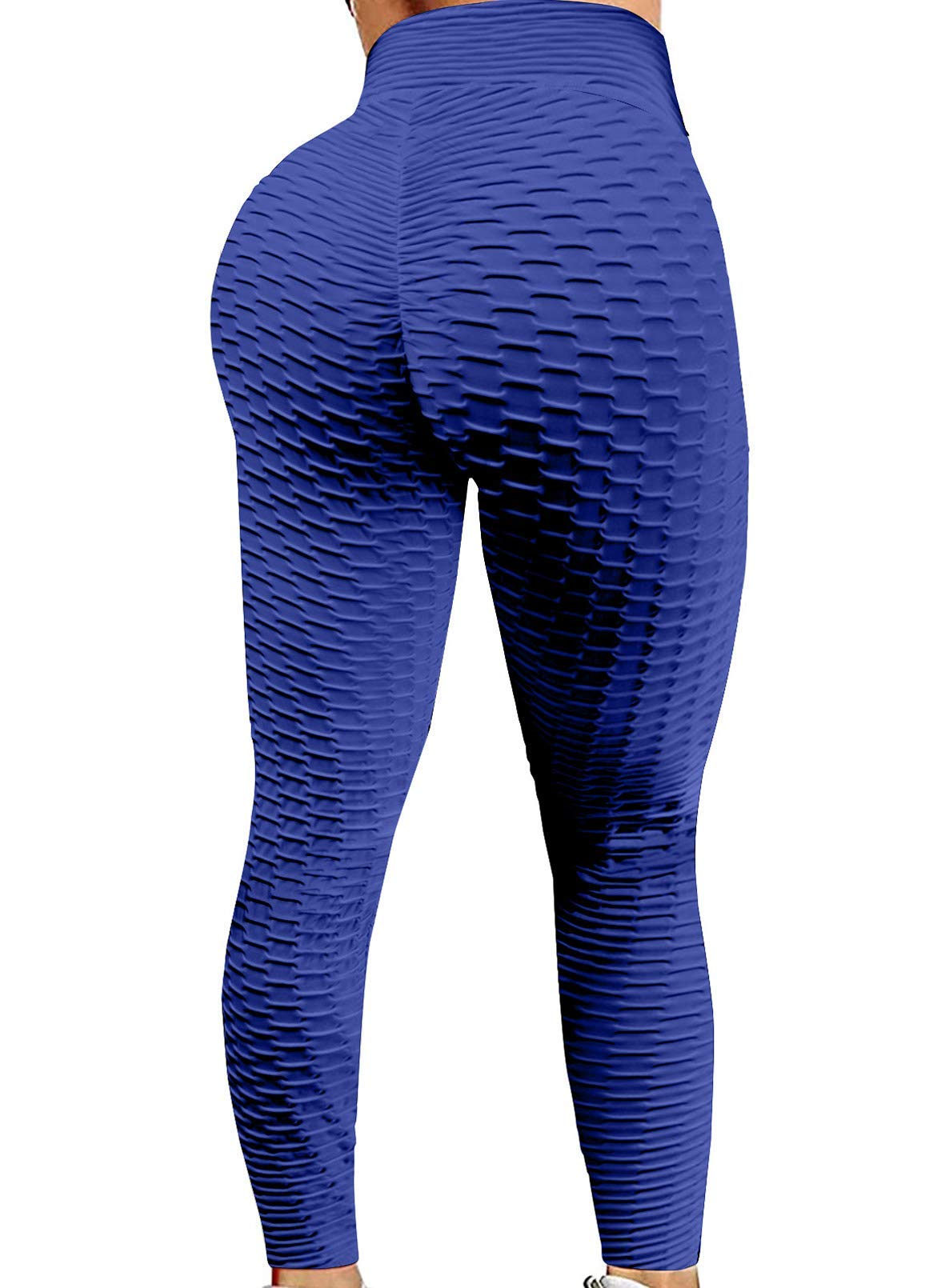 Aleumdr Womens High Waist Ruched Yoga Pants Tummy Control Slimming Booty Leggings