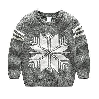 174f7cd095d0 Amazon.com  Girls Sweaters Boys Winter Tops Baby Boy Sweater Girl ...