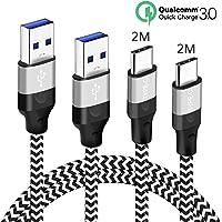 USB C Oplader Kabel,3A Oplaadkabel en Nylon,Snel Opladen Laadkabel Voor Samsung A50 A70 A51 A71 A40 A20E A20 A30S A30…
