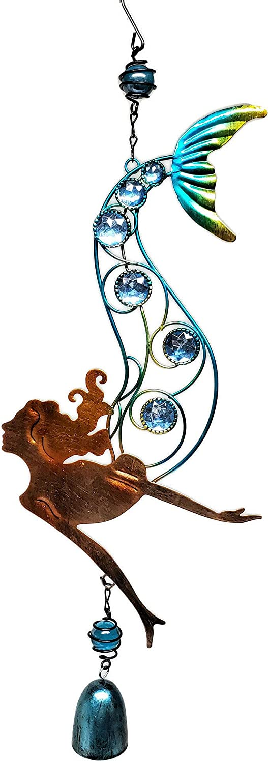 LL Imports Mermaid Decor Wind Chime Bell, 23-inches (Style A)