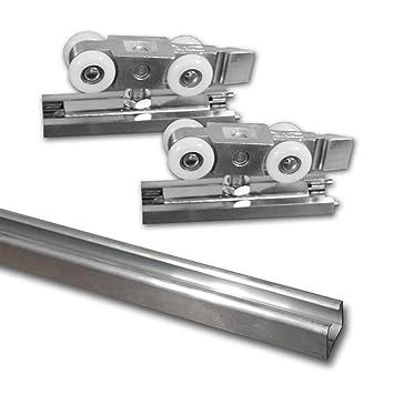 Schiebetür Rollenbeschläge und Schienen 5 Türen x 25 kg