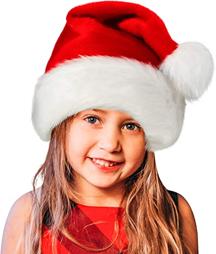 Amazon.com: Sombrero de Papá Noel, gorro de Navidad para ...