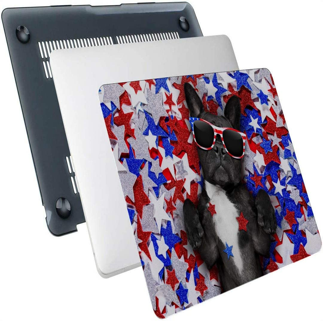 Laptop Cover Case French Bulldog Waving A Flag of USA and Victory Or Plastic Hard Shell Compatible Mac Air 13 Pro 13//16 MacBook Computer Case Protective Cover for MacBook 2016-2020 Version