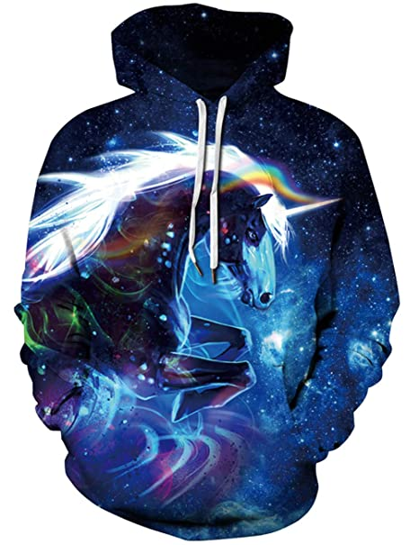 cd29179342f5 Goodstoworld Mens Womens 3D Hoodie Unisex All-Over Printed Lightweight Pullover  Hooded Sweatshirt S-XXL  Amazon.co.uk  Clothing