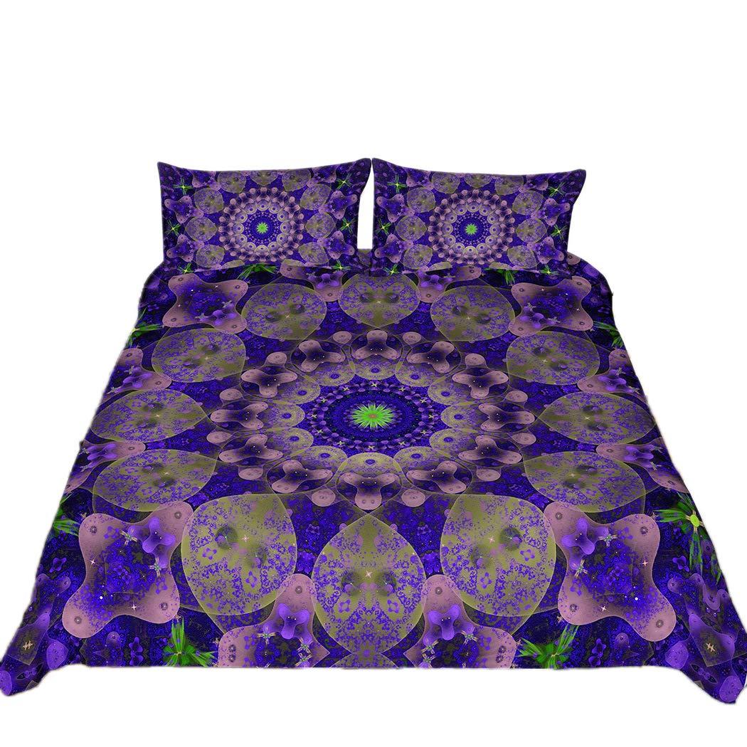 Tngan 4Pcs Duvet Cover Sets Full Queen King Size 3D Bohemian Bedding Set Picture 3 Pillowcase
