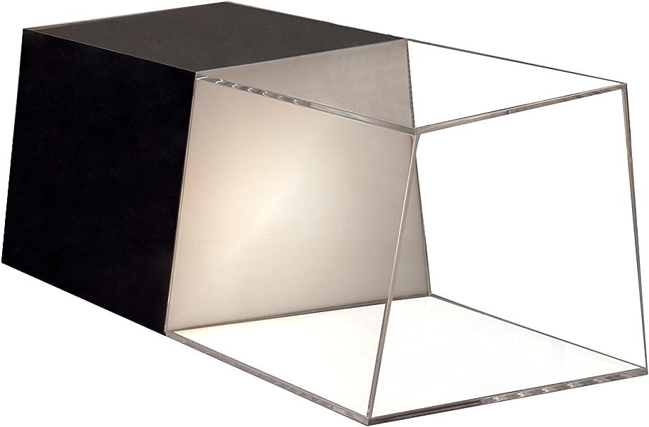 Contemporary Living Mesa De Centro Trapezio Negro/Transparente ...