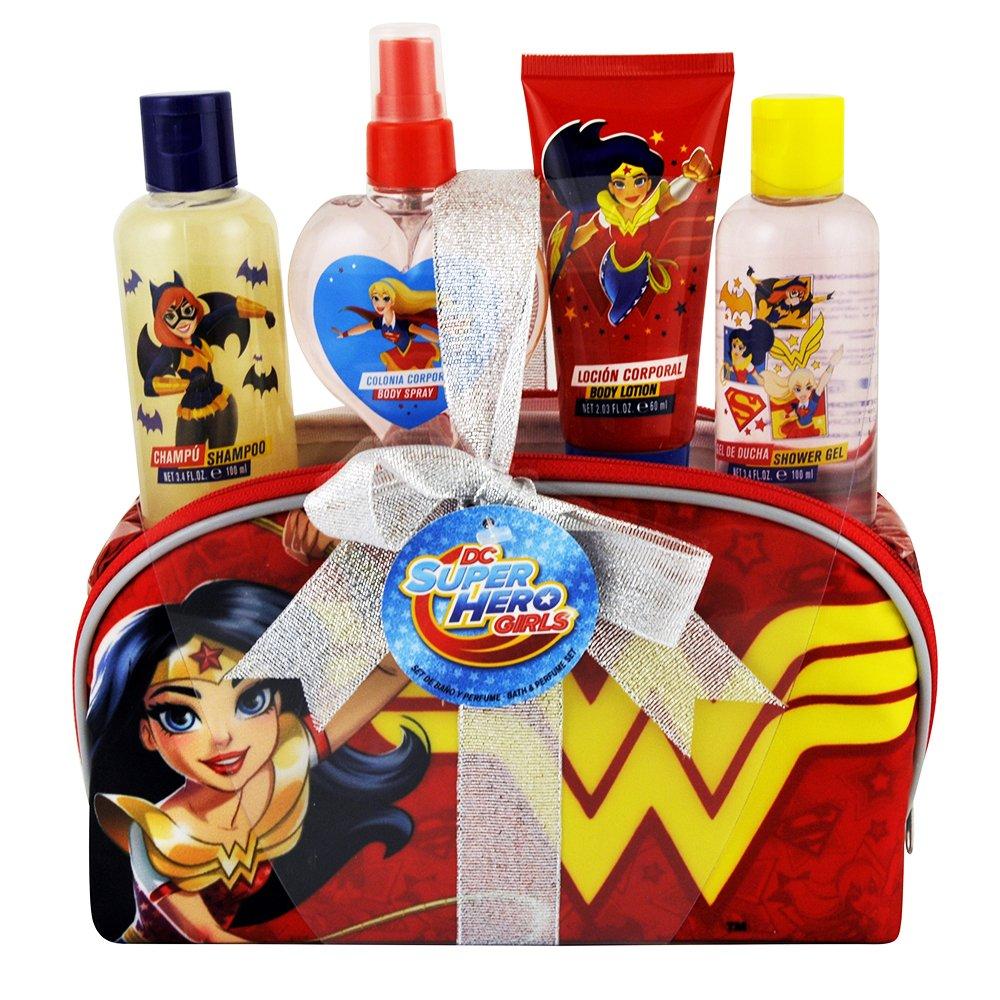 Dc Super Hero Girls Bath/Children's Perfume Set, Red, 5-Piece Airval 7375