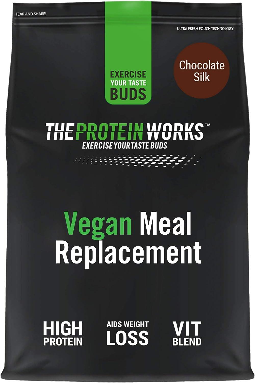 Comida Vegana Completa, 100% Origen Vegetal, Asequible, Saludable, Rápido, Batido Sustitutivo de Comidas, THE PROTEIN WORKS, Crema alla Vainilla, 1 kg ...