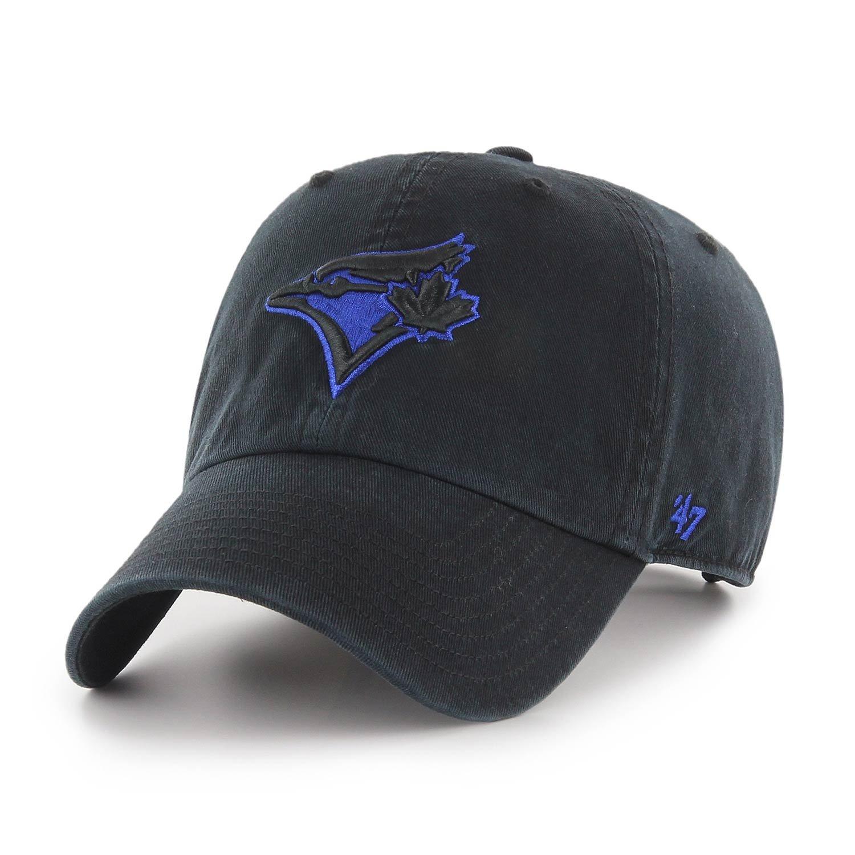 '47 Brand Toronto Blue Jays Tonal Logo Clean Up Adjustable MLB Cap Black