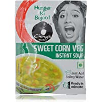 Chings Instant Soup - Sweet Corn Veg, 15g Pouch
