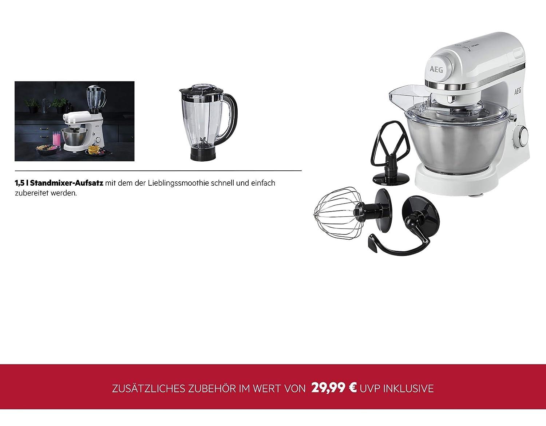 AEG Robot da Cucina 3Series KM3200/planetaria con frullatore Bianco 6/velocit/à + funzione Pulse, 800/Watt