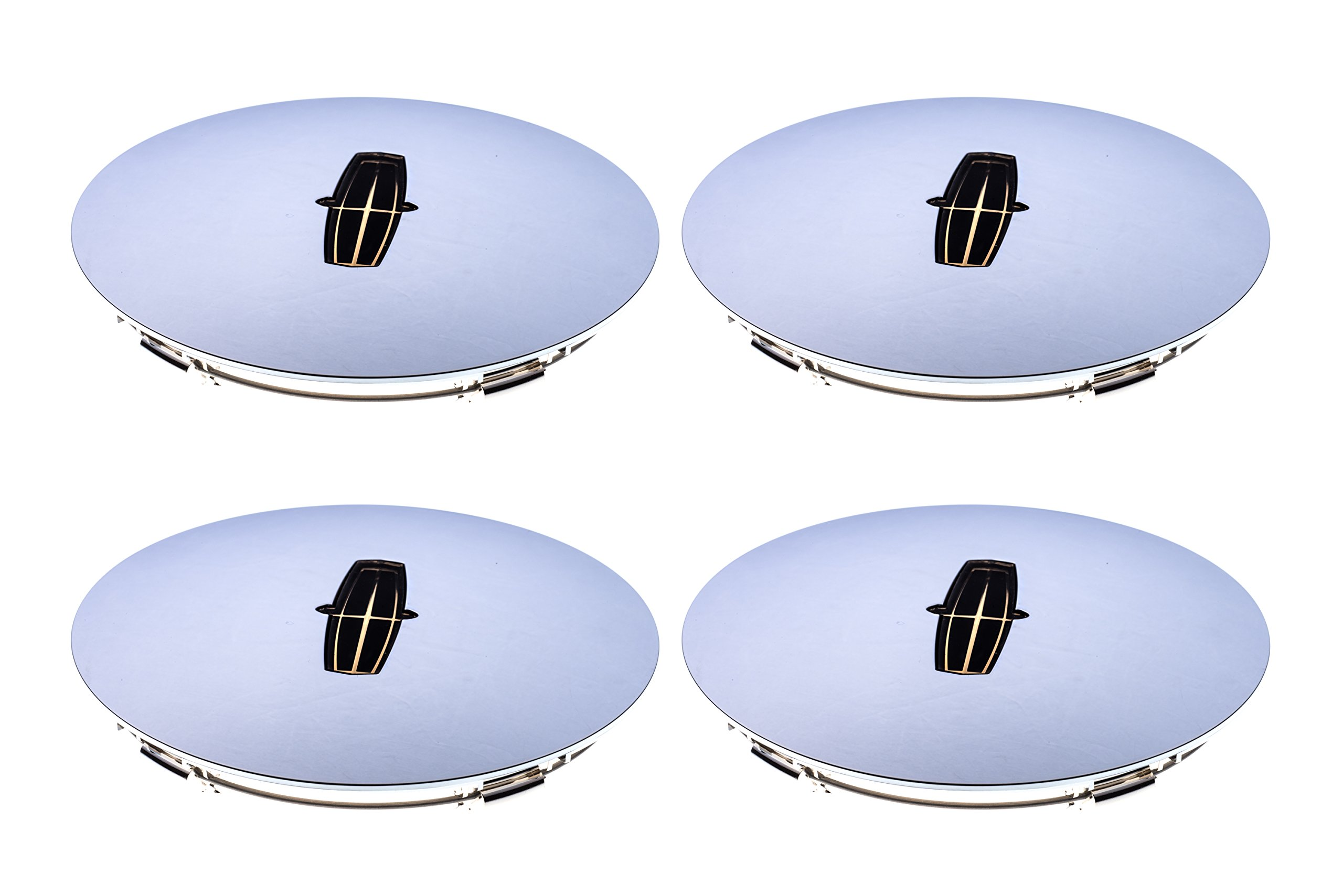 1998-2002 Lincoln Town Car Cartier Chrome Wheel Center Cap Hub Covers x4 OEM NEW by Ford (Image #3)