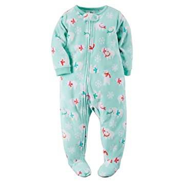 Image Unavailable. Image not available for. Color  Carters Baby Girls 1-Piece  Fleece PJs Winter Bear 24M 93e5bd0d9