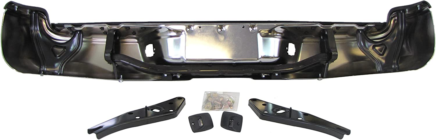 FOR Toyota 05-15 Tacoma Rear Bumper Chrome Top Center Side Pad License Light Set